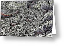 Basalt Topography Greeting Card