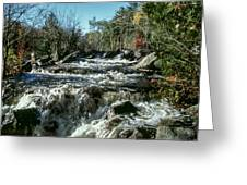 Base Of Ragged Falls Greeting Card