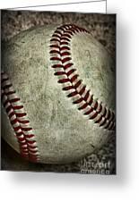 Baseball - A Retired Ball Greeting Card