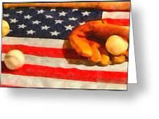 Baseball An American Pastime Greeting Card