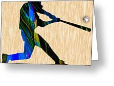 Baseball Art Greeting Card