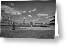 Baseball At Wrigley In The 1990s Greeting Card