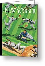 Baseball Ballet Greeting Card