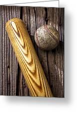 Baseball Bat And Ball Greeting Card