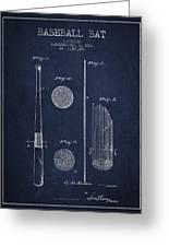 Baseball Bat Patent Drawing From 1921 Greeting Card