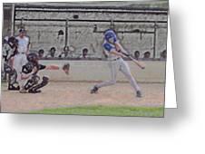 Baseball Batter Contact Digital Art Greeting Card