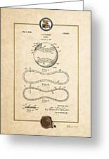 Baseball By John E. Maynard - Vintage Patent Document Greeting Card