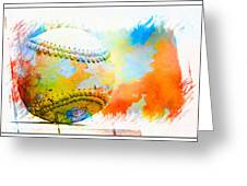 Baseball- Colors- Isolated Greeting Card