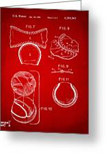 Baseball Construction Patent 2 - Red Greeting Card by Nikki Marie Smith