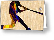 Baseball Game Art Greeting Card