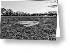 Baseball - Home Plate - Black And White Greeting Card