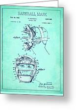 Baseball Mask Patent Blue Us2627602 A Greeting Card
