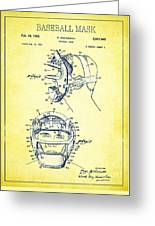 Baseball Mask Patent Yellow Us2627602 A Greeting Card