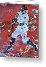 Baseball Painting Greeting Card