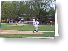 Baseball Pitcher The Delivery Greeting Card