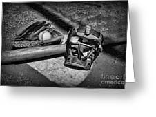 Baseball Play Ball In Black And White Greeting Card