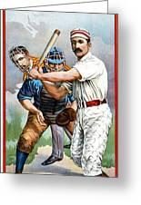 Baseball Player At Bat Greeting Card by Unknown