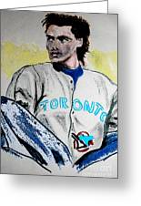 Baseball Player Greeting Card by First Star Art