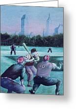 New York Central Park Baseball - Watercolor Art Greeting Card