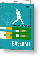 Baseball Poster Greeting Card