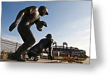 Baseball Statue At Citizens Bank Park Greeting Card