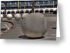 Baseballing At A T T Park Greeting Card
