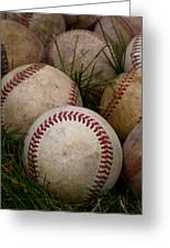 Baseballs Greeting Card