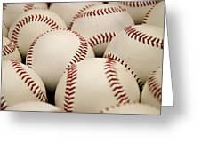 Baseballs II Greeting Card by Ricky Barnard
