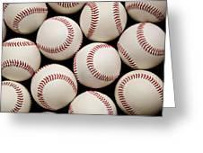Baseballs Greeting Card by Ricky Barnard