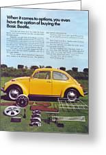 Basic Beetle  Greeting Card