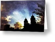 Basilica At Sunset Greeting Card by Mark Block