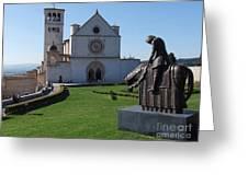 Basilica Di San Francesco - Assisi Greeting Card