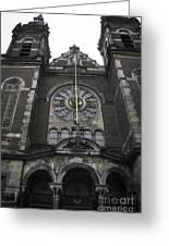 Basilica Of St Nicholas II Amsterdam Greeting Card