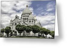 Basilica Of The Sacred Heart Paris France Greeting Card