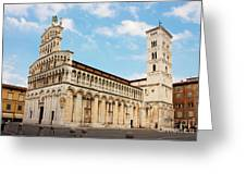 Basilica San Michele In Foro In Lucca Italy Greeting Card