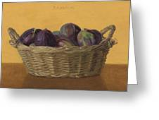 Basket Filled With Figs Greeting Card