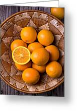 Basket Full Of Oranges Greeting Card