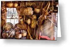 Basket Maker - I Like Weaving Greeting Card by Mike Savad