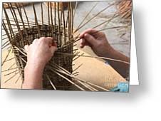 Basket Making Greeting Card