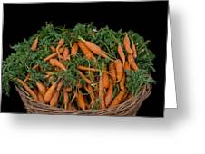 Basket Of Carrots Greeting Card