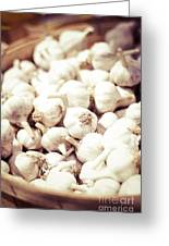 Basket Of Garlic Greeting Card