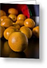 Basket Of Oranges Greeting Card by Jeff Burton