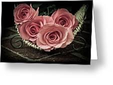 Basket Of Roses Greeting Card