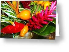 Basket Of Tropic Greeting Card