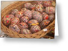 Basket With Easter Eggs Greeting Card