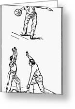 Basketball, 1893 Greeting Card