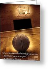 Basketball And Success Greeting Card