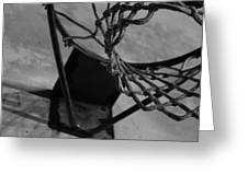 Basketball At Night Greeting Card