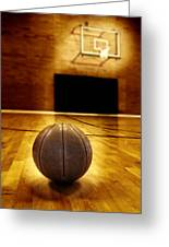 Basketball Court Competition Greeting Card