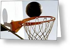 Basketball Hoop And Ball Greeting Card
